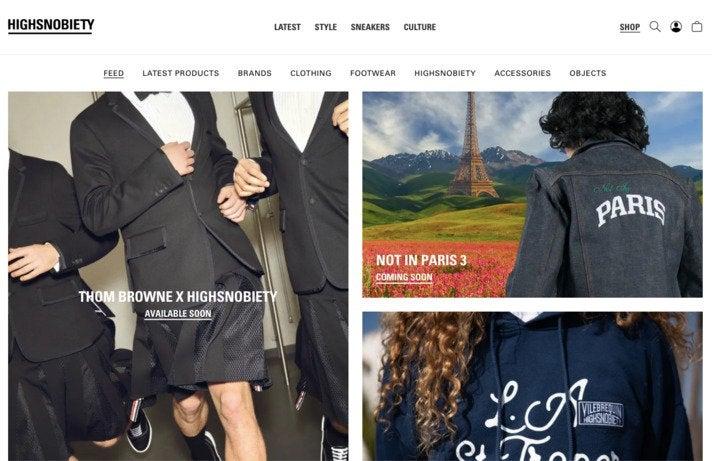 """Der Shop von Highsnobiety mischt kursierte Produkte mit eigenen Kollabo-Pieces und Kollektionen zu """"Flagship""""-Projekten der Berliner"""
