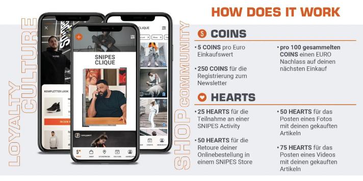 Erklärung der Snipes-Clique, dem Treueprogramm von Snipes