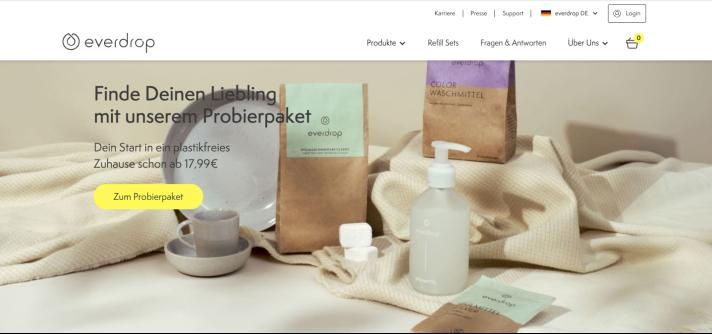 Online-Shop von Everdrop