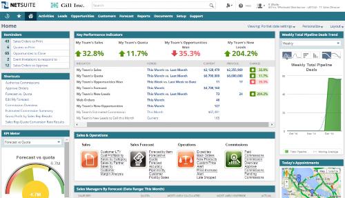 Oracle NetSuite Screenshot
