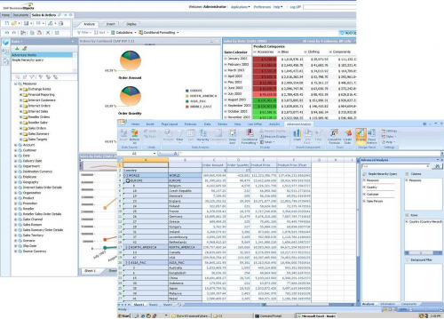 SAP BusinessObjects BI Screenshot
