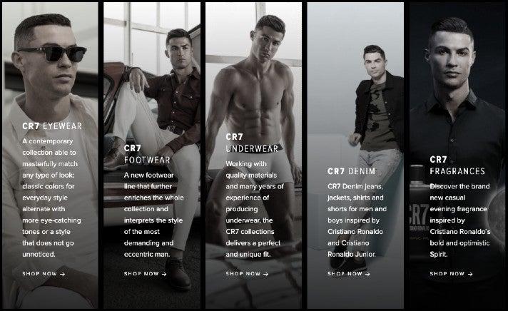 Ein Überblick über das Produktportfolio von Ronaldos eigener Lifestyle-Marke CR7