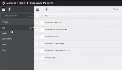 Adobe Experience Manager Screenshot