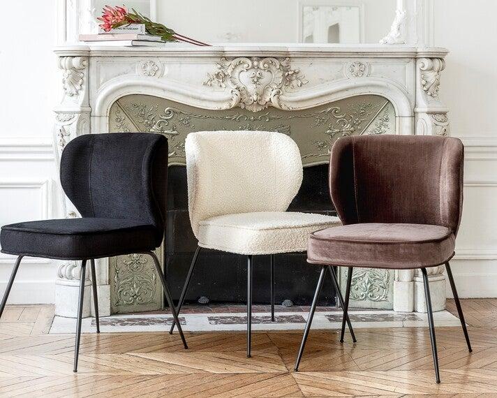 Beststeller-Stuhl Wayne gibt es in immer neuen Farben und Materialien. Aktuell sind 20 unterschiedliche Varianten im Angebot
