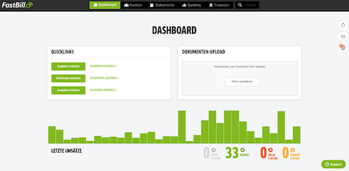FastBill Screenshot