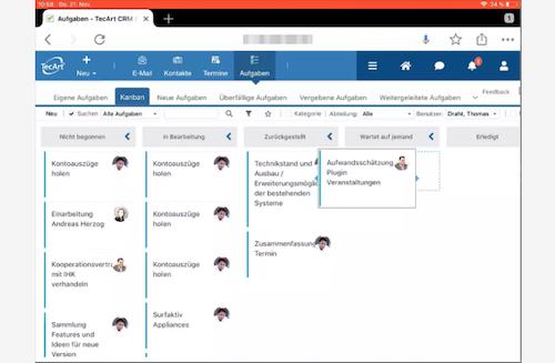 TecArt CRM Screenshot