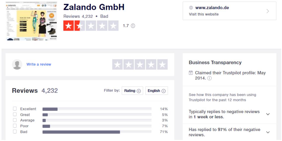 Zalando-Screenshot