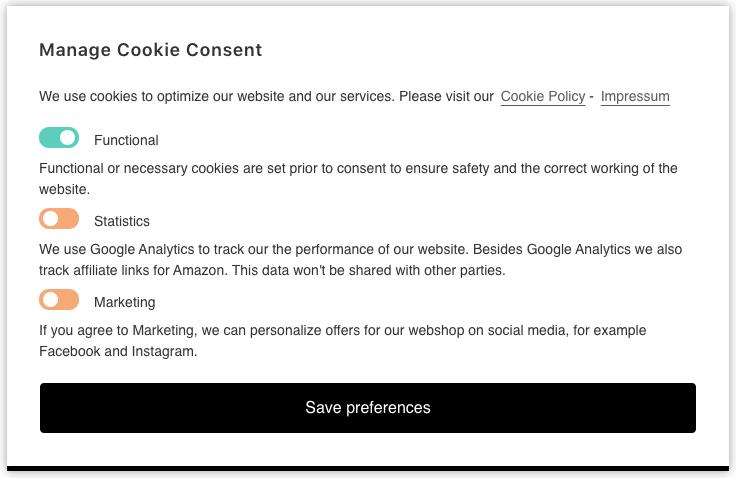 Complianz Cookie Plugin