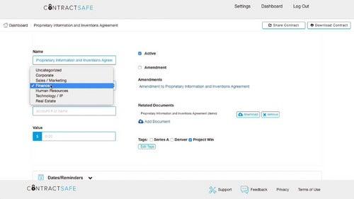 ContractSafe Screenshot