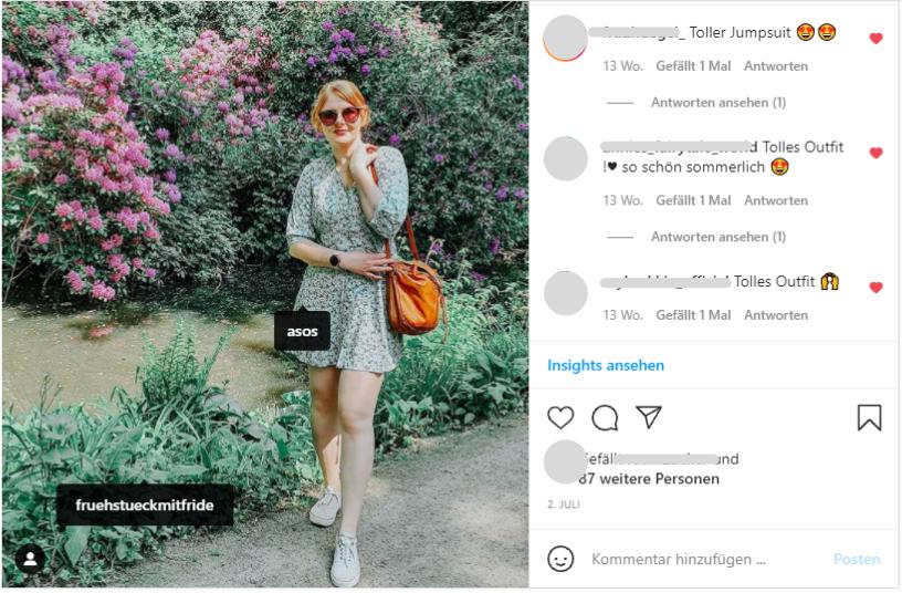 Beispiel für Tap-Tag in Instagram-Beiträgen