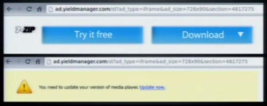 """Ad-Injection: Diese Banner hat die Chrome-Erweiterung """"Similar Sites Pro"""" in den Browser der Nutzer eingeschmuggelt – sie fordern zum Download weiterer Malware auf"""