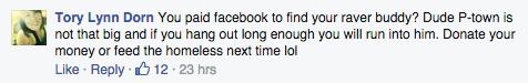 (Screenshot: kritischer Kommentar unter Find-Dan-Anzeige)