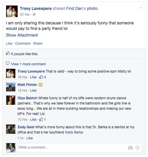 """(Screenshot einer geteilten """"Find-Dan-Anzeige"""")"""