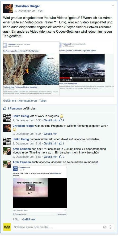 """Eine Diskussion aus der Gruppe """"Facebook Developers Germany"""""""
