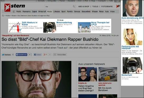 Werbung auf Stern.de, die trotz aktiviertem Adblocker ausgeliefert wurde (bearbeiteter Screenshot)