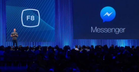 Facebook-Gründer und -CEO Mark Zuckerberg bei der Vorstellung des neuen Messengers auf der F8 Konferenz am vergangenen Freitag