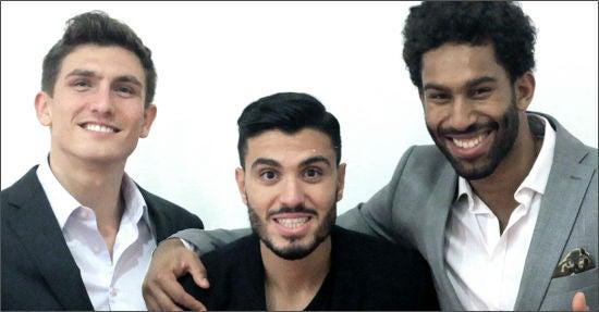 Die Freeletics-Gründer: (von links) Andrej Matijczak, Mehmet Yilmaz und Joshua Cornelius (Bild: Startupcamp.co)