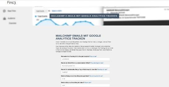 Der MailChimp Google Analytics URL Builder erzeugt die URL.
