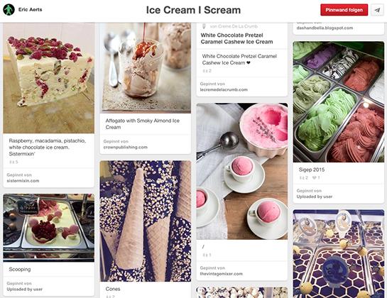 (Screenshot von der Pinnwand Ice Cream / Scream von Eric Aerts)