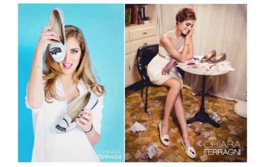 Chiara macht Werbung für ihre eigene Schuhkollektion
