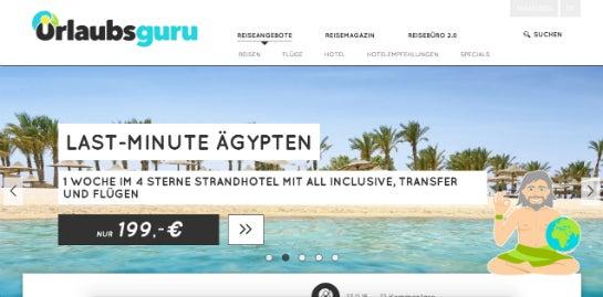 Urlaubsguru.de – Die Webseite heute