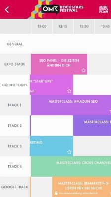 OMR-App Timetable